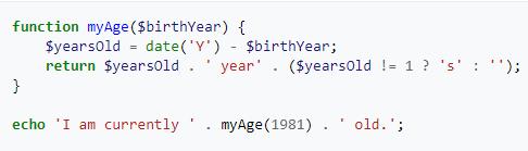código de ejemplo en PHP