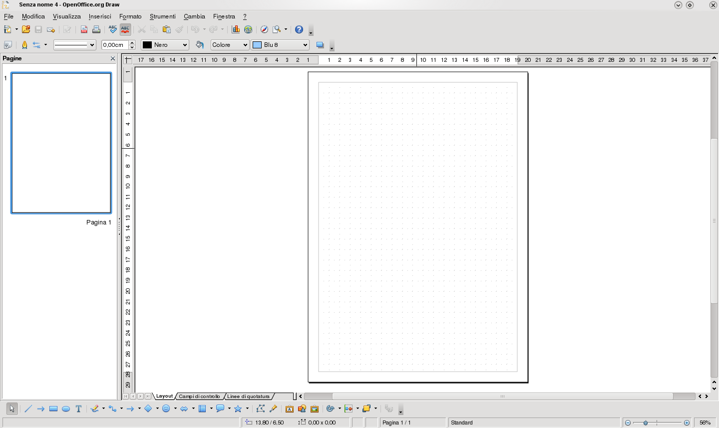 Interfaz OpenOffice Draw
