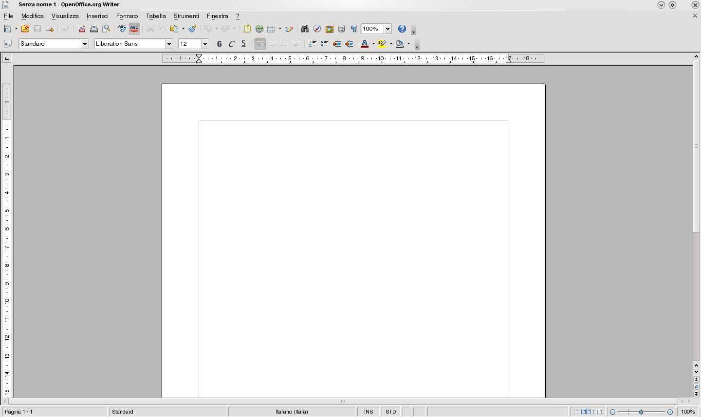 Interfaz OpenOffice Writer